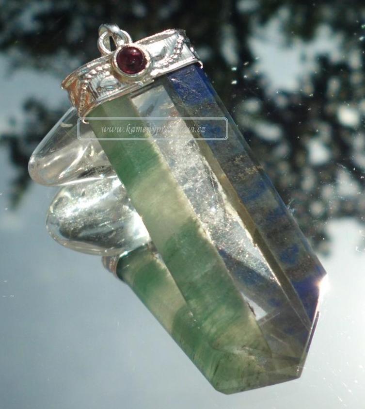 Léčivý přívěšek (Avanturín - křišťál - lapis lazuli)