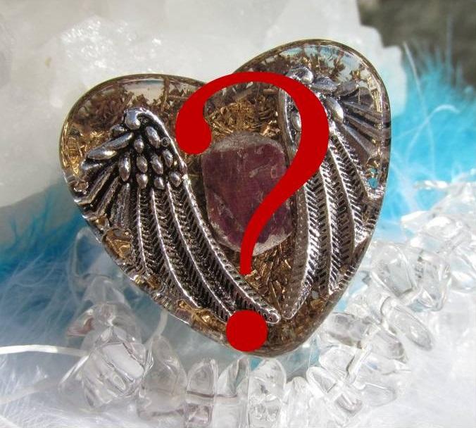 Orgonit na přání - srdce velké (zakázková výroba orgonitu na přání)