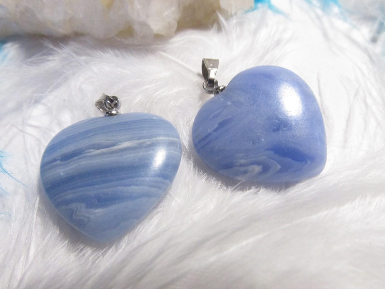 Srdíčko - Modrý křemen - přívěsek (srdce, modrý křemen)