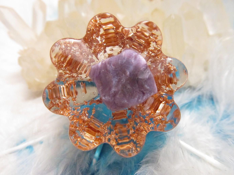 Orgonit květinka - Andělské pohlazení (Květinka malá, čaroit, vločky mědi)